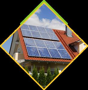 Panele słoneczne na dachu skośnym